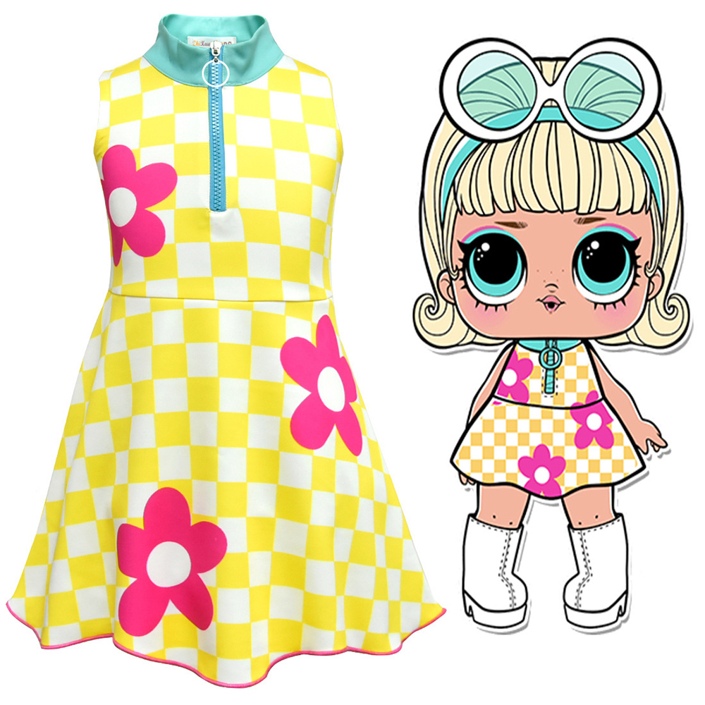 Cute Surprise Cosplay Costume Girl's Beautiful Princess Dress Party Halloween Christmas Fancy Costume Children's Clothing