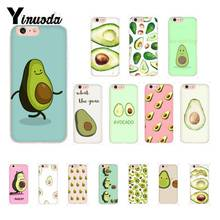 Yinuoda Art Funny Tumblr avocado Soft Silicone Phone Case for iPhone 8 7 6 6S 6Plus X XS MAX 5 5S SE XR 10 11 11pro 11promax