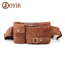 JOYIR New Arrival Men Chest Packs Vintage Sling Chest Back  Messenger Shoulder Bag Genuine Leather Crossbody Bags For Men 8135 недорого