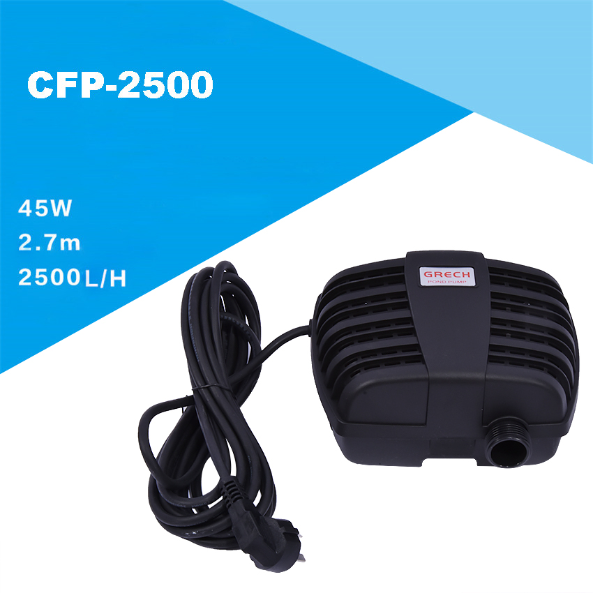 Submersible pump for pond pool CFP-2500 Garden Filter Pump 45W waterpump Pond Filter free shipping clb series submersible water pump for pond