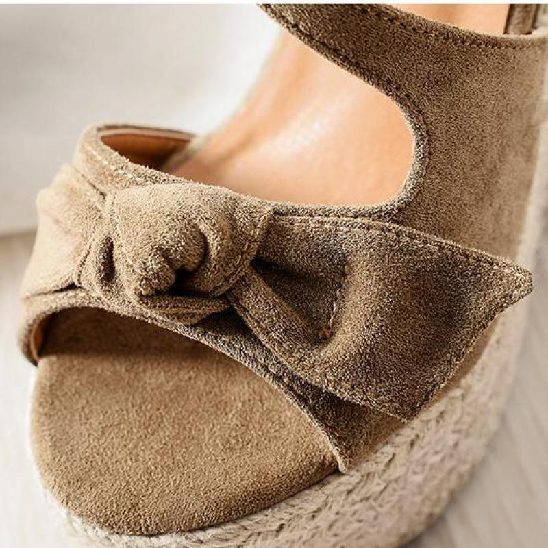 Sexy Peep Toe Shoes Thick Bottom Summer Shoes Wedge Sandals Sandals Women