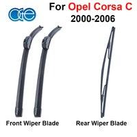 Windshield Wiper Blade For Opel Corsa C 2000 2001 2002 2003 2004 2005 2006 Front Rear