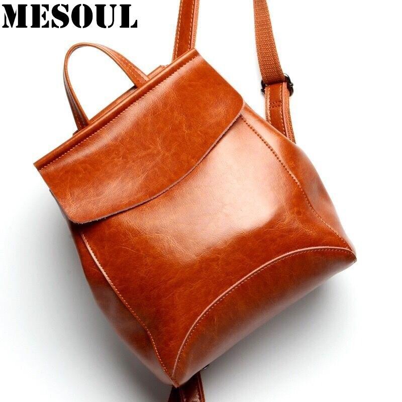 새로운 도착 정품 가죽 배낭 여자 한국어 스타일 패션 배낭 여자 배낭 Mochila 브랜드 디자이너 가방