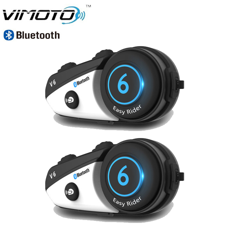 Soft earphone Vimoto V6 motorcycle helmet intercom motorbike wireless bluetooth waterproof Headset BT Interphone