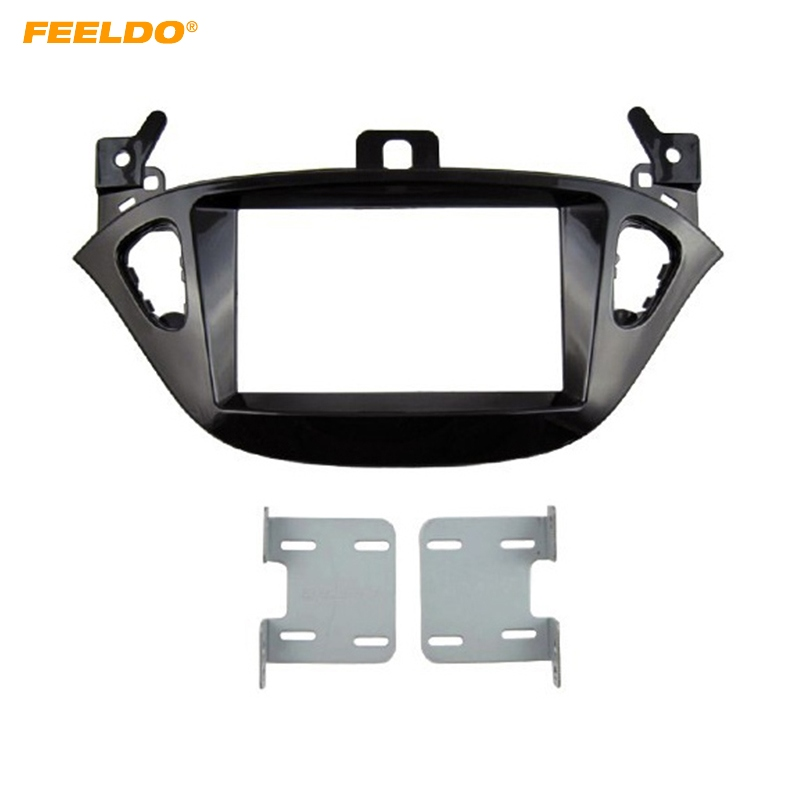 FEELDO Car 2 DIN Refitting Radio Fascia Frame for Opel Adam 2013 Stereo Dash face Plate Frame Panel Mount kit Adapter #HQ5223 image