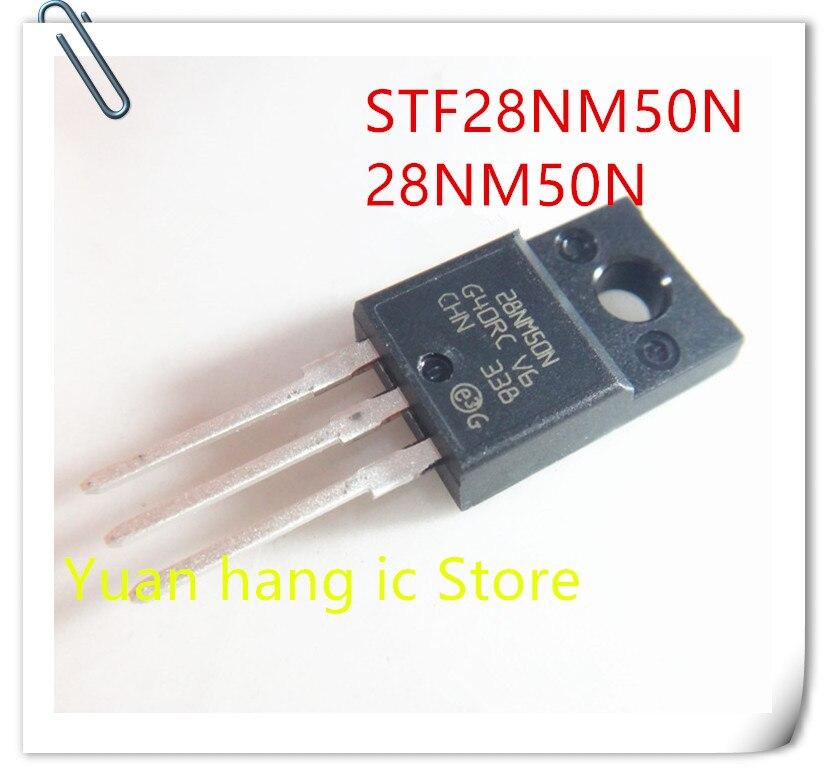 10pcs/lot STF28NM50N 28NM50N 500V 21A 90W FET Plastic TO-220 Original Authentic