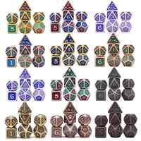 New Design Dragon Scales Metal Dice 7pcs with Pouch for Dungeons and Dragon RPG MTG Board Games D4 D6 D8 D10 D12 D20