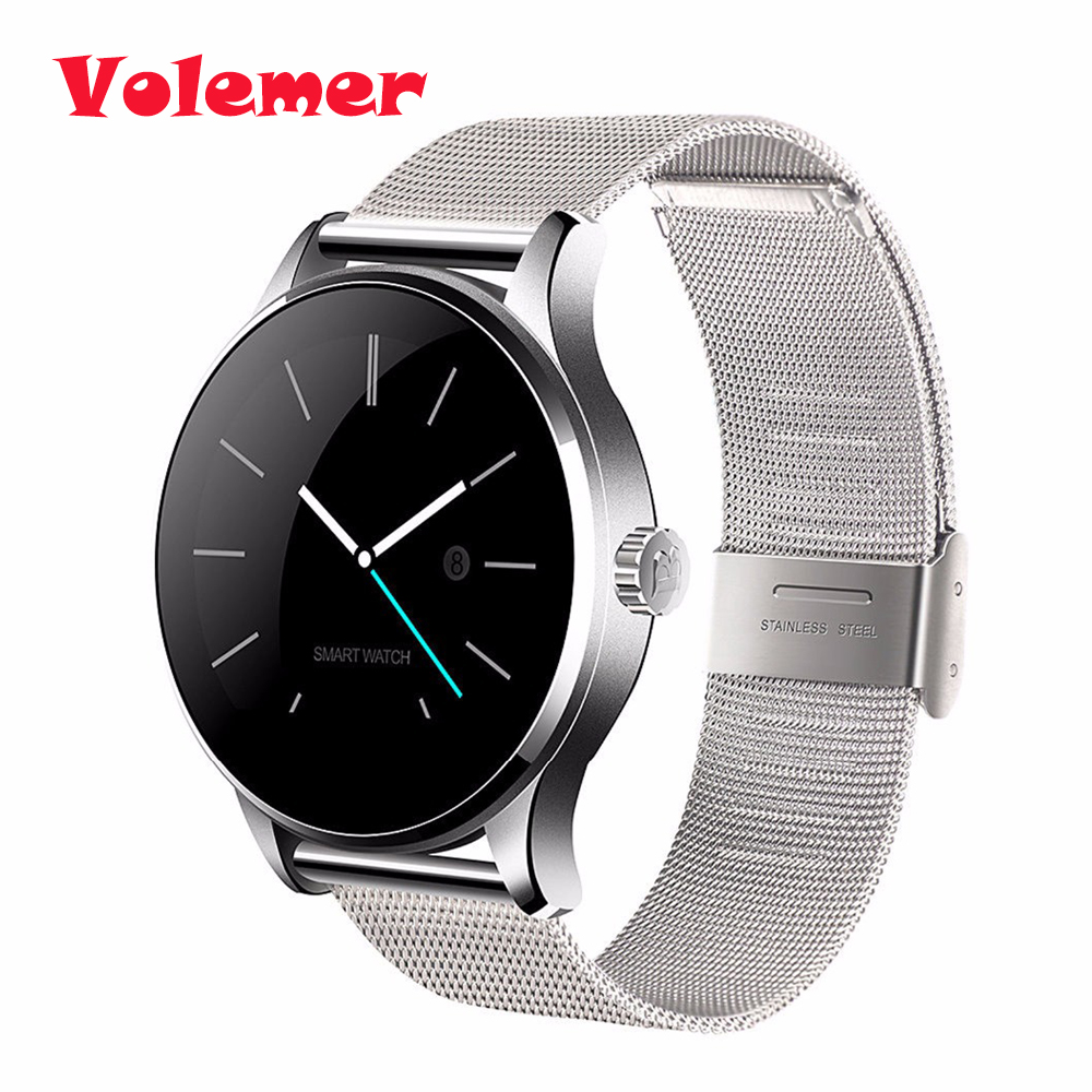Volemer K88H Bluetooth Smart Watch sport Health Smartwatch Heart Rate Monitor for Xiaomi Huawei Android ISO Phone pk kw88 dm2018 smart watch android gps sports 4g smartwatch phone 1 54 inch bluetooth heart rate tracker monitor pedometer pk kw88 dm98