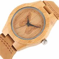 Beautiful Butterfly Decoration Dial Wood Watches for Ladies Girl Women Handmade Bamboo Wristwatch Quartz Watch relogio feminino