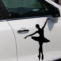 HotMeiNi 58cm x 38.67cm 2 x Ballerina Ballet Dancer (one For Each Side) Sticker Window Wall Car Studio Vinyl Decal