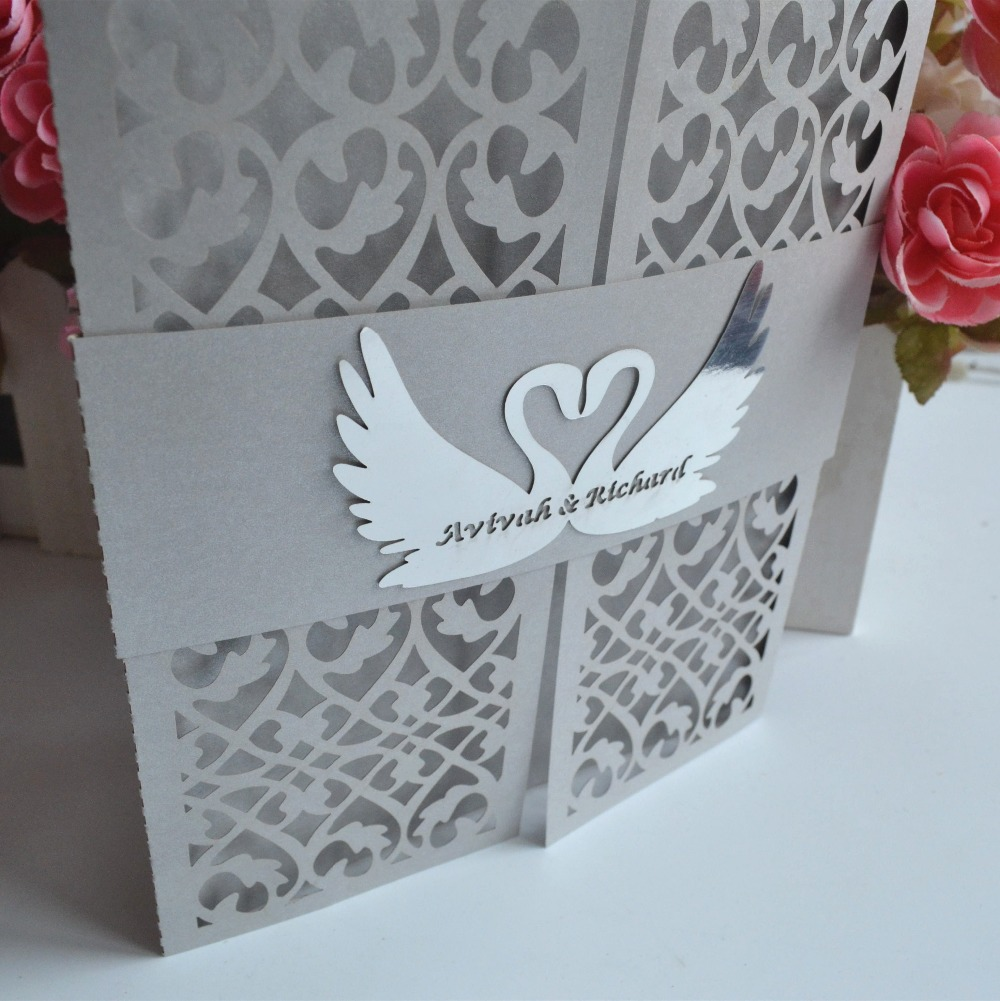 200pcslot filigree wedding invitation card laser cutting with