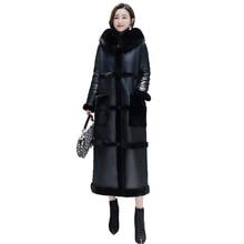 New Fashion Women Parka Coat Plus Size Long Cotton Casual Jacket Ladies Plus velvet Warm Winter Parkas Female Hooded Coat Winter цена 2017