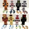 24 Unids/lote Minecraft Brinquedo Juguetes Star Wars Superhéroe Avengers Justice League Building Blocks Juguetes Figuras de Acción de Juguete # FB