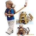 hot sales Baby Kids Animal Backpack Safety Bag Harness Stuffed & Plush Cartoon with Reins (Monkey, Bear) 50% off