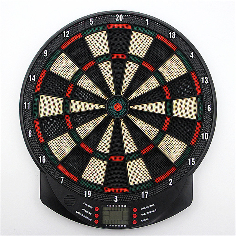15 Inch Electronic Darts Board Set LCD Display Automatic Score Dart Plate Scoring Board With Voice