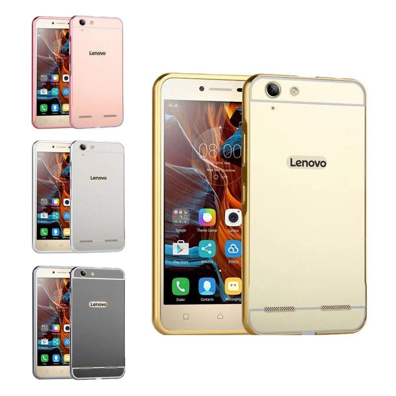"""Vibe K5 pouzdro pokovování kovový rám se zrcadlem efekt zadní kryt pevné pouzdro pro Lenovo Vibe K5 K5 plus A6020 5,5 """"kryt telefonu kryt"""