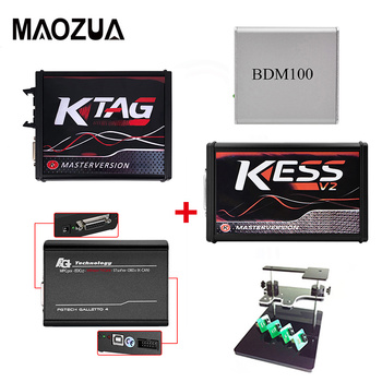 цена на DHL Free Online Red PCB ECU Programmer V2.47 KESS V2 V5.017+KTAG V7.020 V2.34+FG TECH Galletto 4 Master V54++BDM FRAME+BDM100