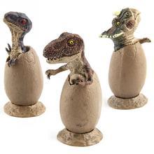 Новое поступление, 3 комплекта, модель динозавра ручной работы, полувылупленная модель Яйца динозавра с пьедесталом, забавная игрушка