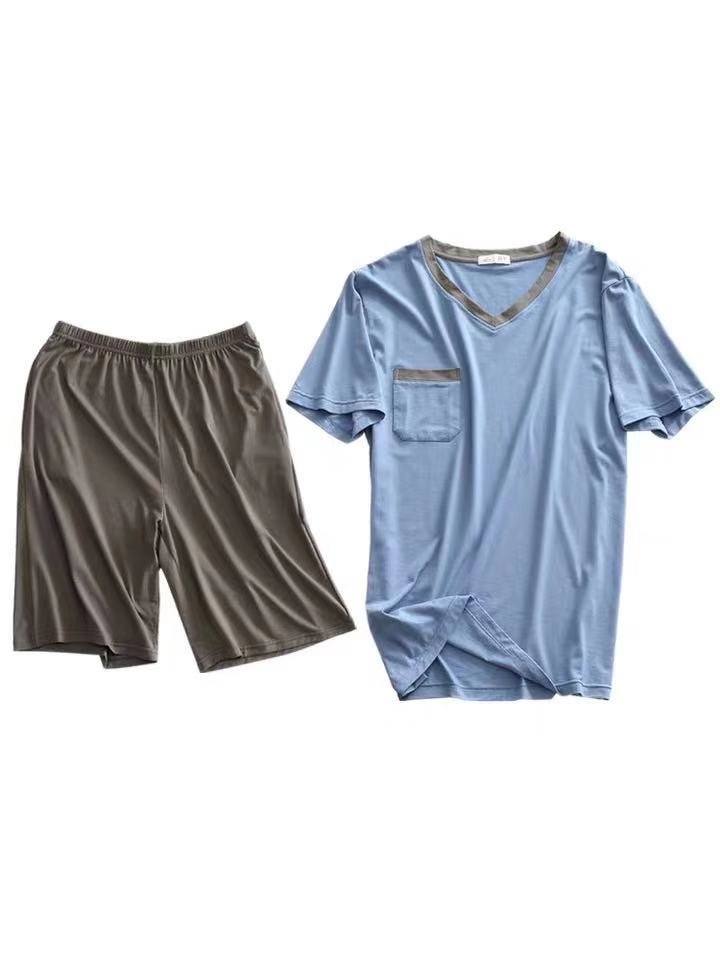 High Quality Modal Material Breathable Men Sleepwear Pajamas Set 2pcs