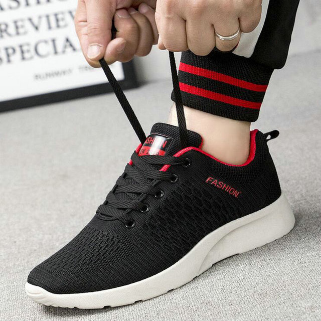 2019 Fashion  Men's Flats Trainers Sneaker  Men Casual Summer Breathable Air Mesh flats light Flying weaving Shoes LM-63Z