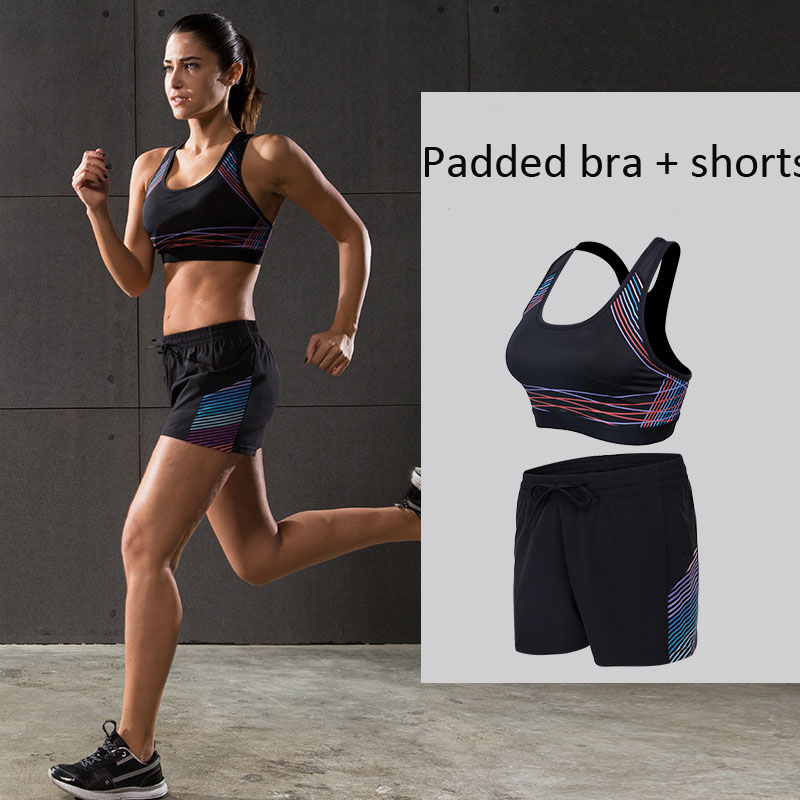2017 swearsuit pour Femmes Sport Costume Sport Chemises Gilet + Sport Pantalon De Yoga Mis En Exécution Physique Formation Vêtements femmes maillots de bain