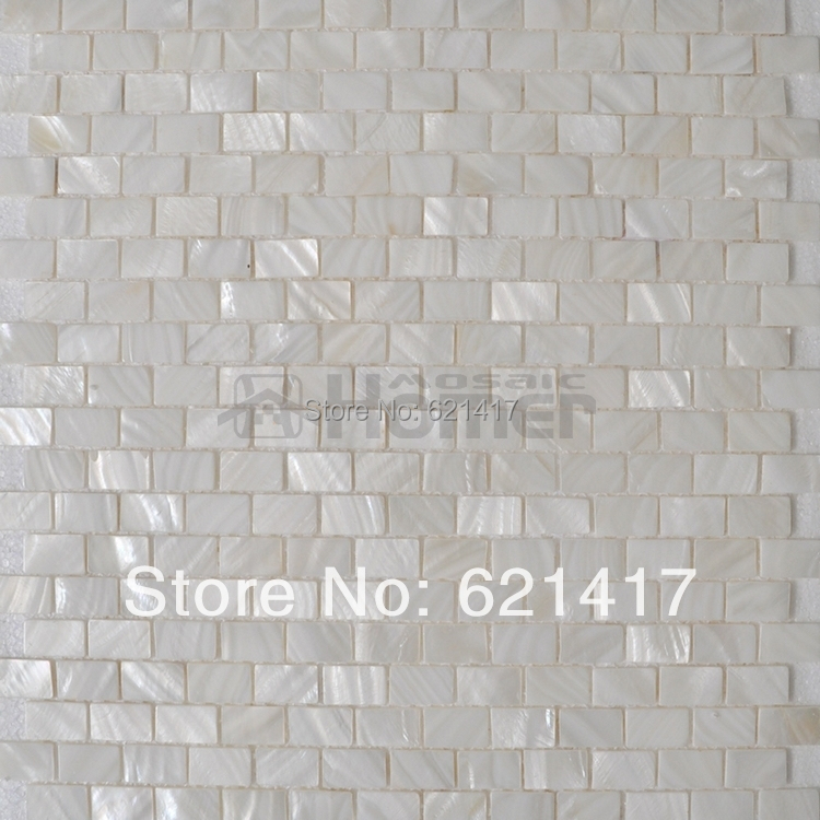 Free Shipping White Mother Of Pearl Mosaic Tiles Brick Freshwater