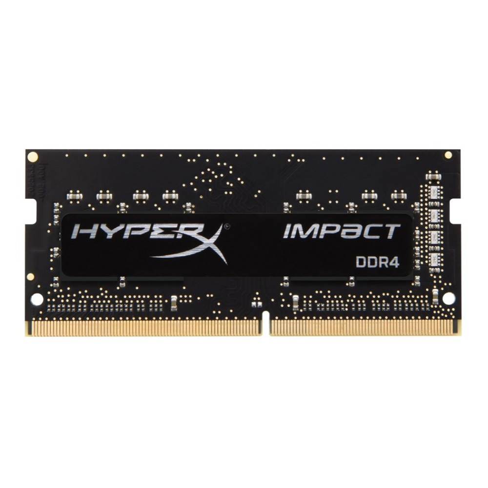 HyperX Impact 8 GB DDR4 2400 MHz, 8 GB, 1x8 GB, DDR4, 2400 MHz, SO-DIMM 260 broches, noir