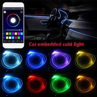 4 5x 6 2M Sound Active RGB LED Car Interior Light Multicolor EL Neon Strip Light