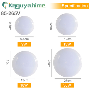 Image 3 - Kaguyahime LED ضوء السقف 36 W 24 W 18 W 13 W 9 W 6 W أسفل ضوء سطح جبل مصباح لوحة 85 265 V الحديثة UFO مصباح المنزل إضاءة زينة