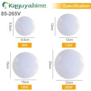 Image 3 - Kaguyahime led 천장 조명 36 w 24 w 18 w 13 w 9 w 6 w 아래로 빛 표면 마운트 패널 램프 85 265 v 현대 ufo 램프 홈 장식 조명