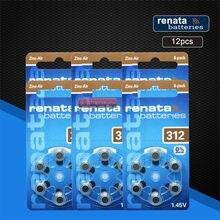 12pcs/pack 2 Renata Baterias Zinc Air Tamanho 312 P312 PR41 Bateria para Aparelhos Auditivos