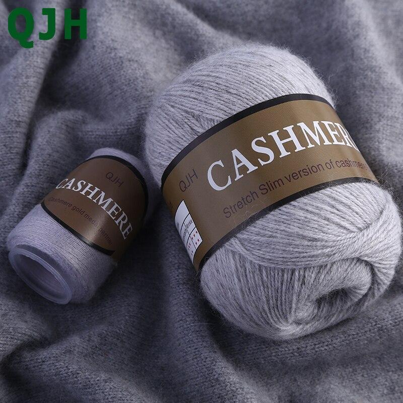 Beste Qualität 100% Mongolischen Kaschmir Hand-gestrickte Kaschmir Garn Wolle Kaschmir Strick Garn Ball Schal Wolle Yarny Baby 50 gramm