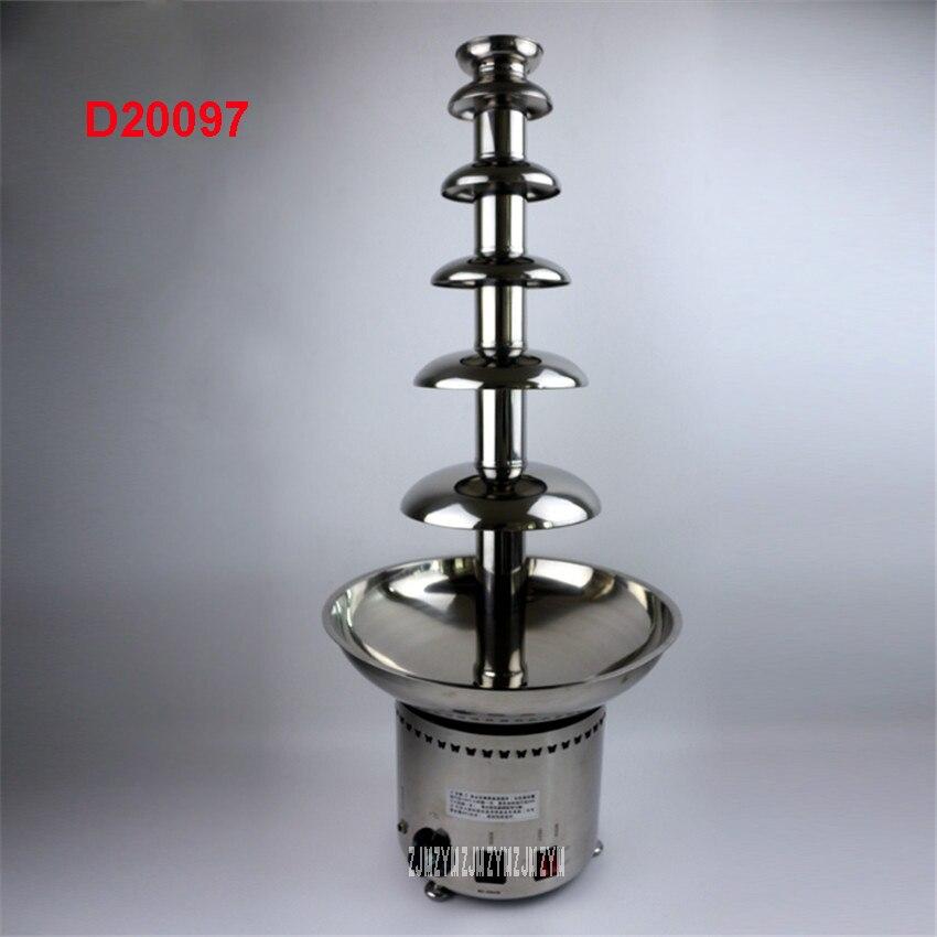 D20097 6 niveaux hauteur 82 cm Dia 36 cm 304 # acier inoxydable commercial chocolat fontaine machine chocolat cascade machine 280 W