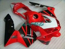 Инъекции Aftermarket частей тела обтекатели для Honda CBR600RR 05 06 красный черный обтекателя комплекты CBR 600RR 2005 2006 17MK