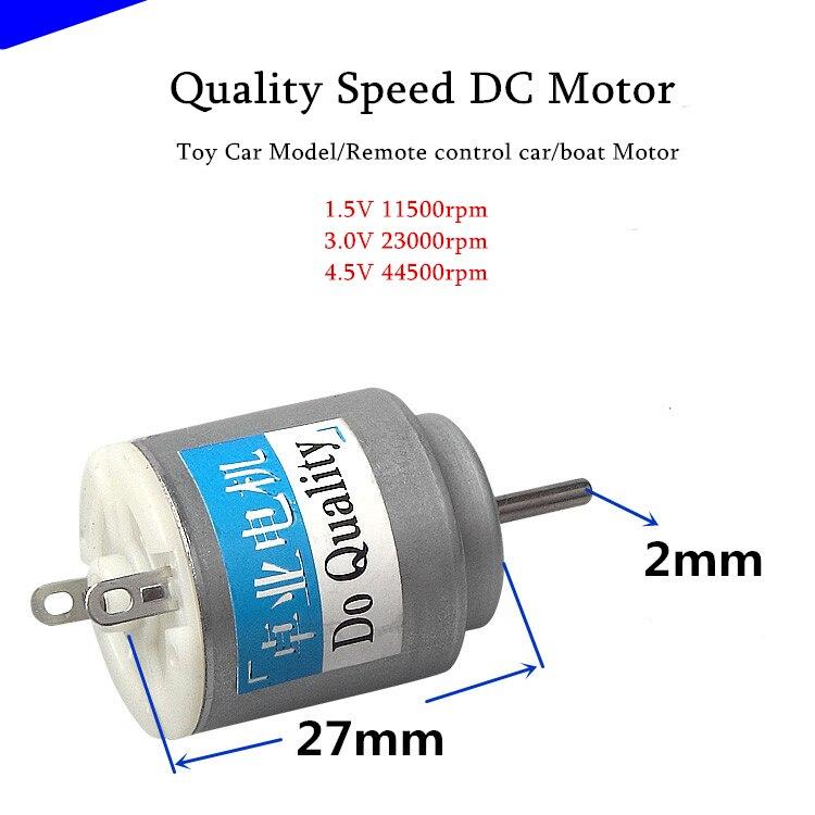 N20 motor DC1.5V 3V 6V high speed micro carbon brush motor For DIY Toy Car Model