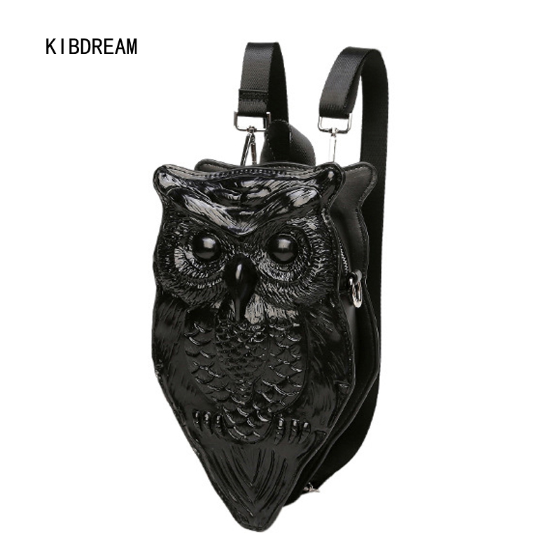 KIBDREAM 2017 Women Backpack Single Shoulder Oblique 3d Personality Cool and young girl Pu Backpack Shoulder