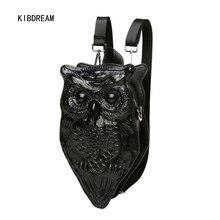 Kibdream 2017 женщин рюкзак на одно плечо косой 3d личности прохладно и молодая девушка ПУ рюкзак сумка Бесплатная доставка