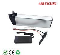 Folding bike battery 36V 10Ah inner tube battery Lithium ion silver case battery for city bike foldable ebike with charger