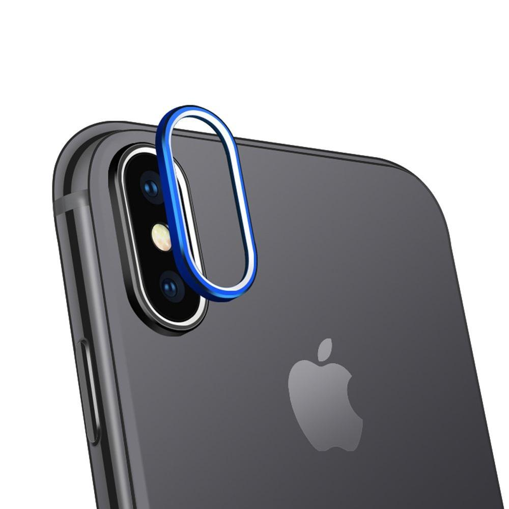 Portefeuille For iPhone X Camera Lens Protector Ring Plating Aluminum for iPhone 10 XR XS Max Camera Case Cover Ring Accessories