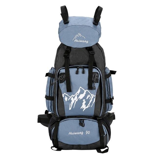 90L Outdoor Mountaineering Bag Men Women Hiking Camping Bags Waterproof  Sport Bag Travel Backpacks Large capacity a50efe5891962