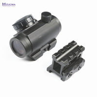 Tactical M1 Red Dot Sight Airsoft Red Dot Scope Hunting Red Sight Laser Picatinny Rail Mount 20mm With High Mount Rail Hunting