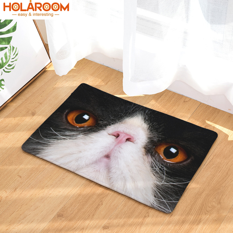 Floor Mats Animal Cat Printed Bathroom Kitchen stair Carpets Doormats water absorbs rug for Living Room Anti-Slip Tapete