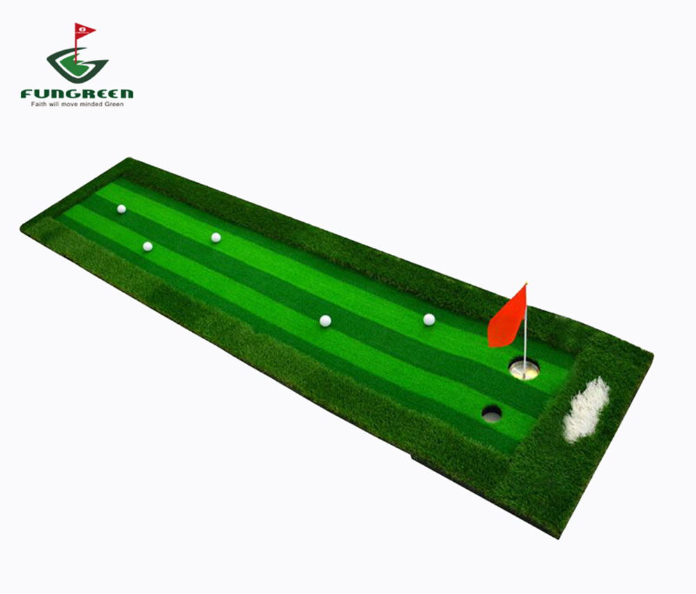 0.75X3M Indoor & Outdoor Backyard Golf Putting Green Residential Training Hitting Pad Practice Rubber Tee Holder Drop Shipping golf putting mat mini golf putting trainer with automatic ball return indoor artificial grass carpet