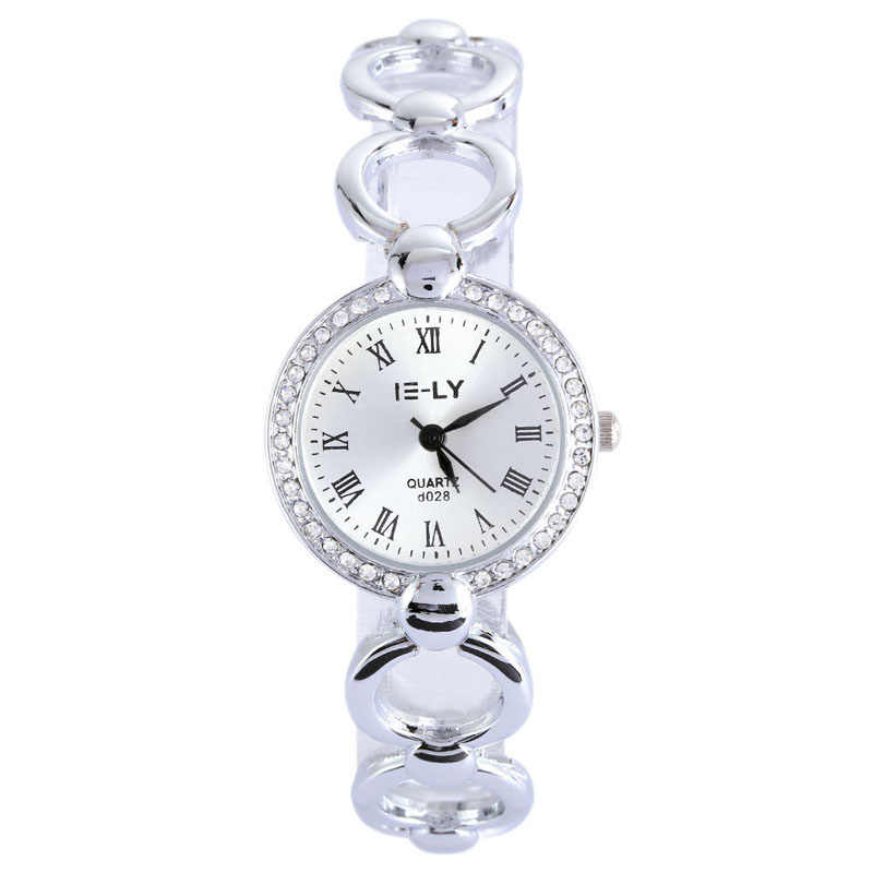 Fashion Wanita Jam Tangan Stainless Steel Kristal Kuarsa Analog Dial Watch