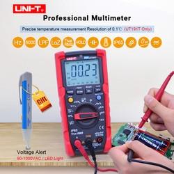 Profesjonalny multimetr cyfrowy UNI T UT191E/UT191T true rms AC DC napięcie prądu miernik rezystancji  IP65 wodoodporny/pyłoszczelny  ACV LPF w Mierniki wielofunk. od Narzędzia na