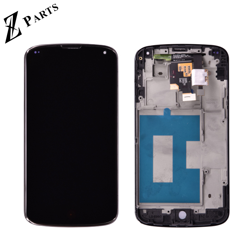 Original For LG Google Nexus 4 E960 LCD Display with Touch  Screen Digitizer Assembly with frame bezel free shippingOriginal For LG Google Nexus 4 E960 LCD Display with Touch  Screen Digitizer Assembly with frame bezel free shipping
