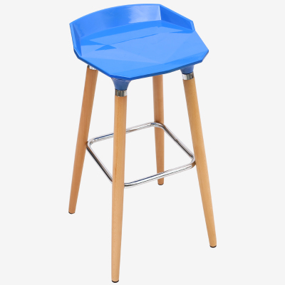blue coffee chairs bar public house stool wood leg chair free shipping hospital Injection of stools Clinic chair public house chair blue red brown color bar coffee house stool free shipping