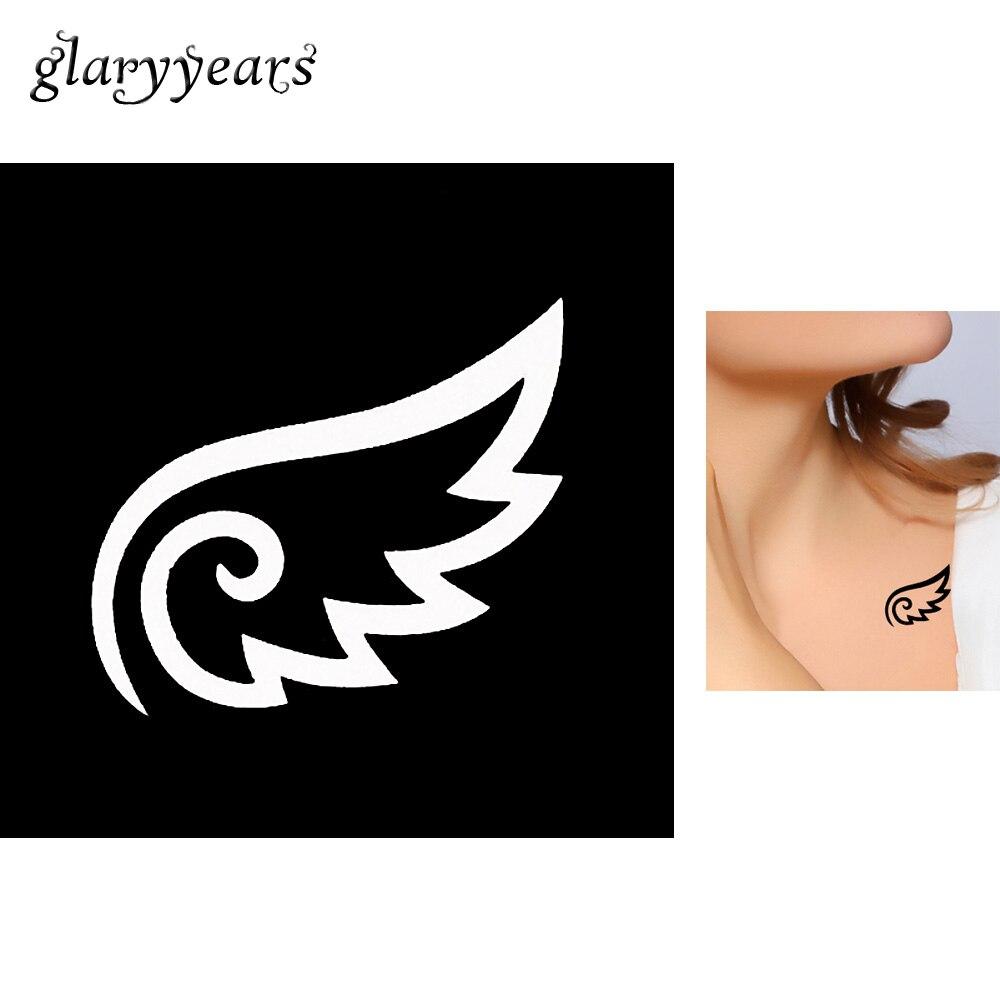 1 Blatt Kleine Flügel Design Henna Tattoo Schablone Schulter Körper Kunst Frauen Diy Mehndi Henna Tattoo Vorlage Farbe Geburtstagsgeschenk G128