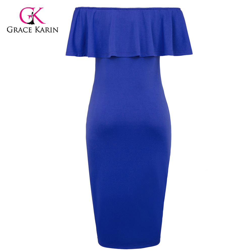 e1da48286d6d4 Grace Karin Short Evening Dress Bodycon Off Shoulder Sheath Formal  Maternity Gown Elegant Evening Party Special Occasion Dresses-in Evening  Dresses from ...