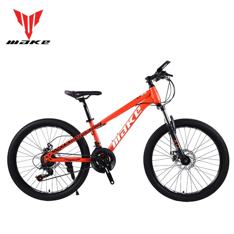 Mountain Bike MAKE 24' 21 Speed Disc Brakes Steel Frame